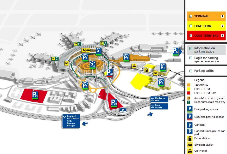Aeroporti In Germania Cartina.Aeroporto Internazionale Di Dusseldorf Arrivi Partenze E Come Arrivare Dall Aeroporto In Centro Germania Info