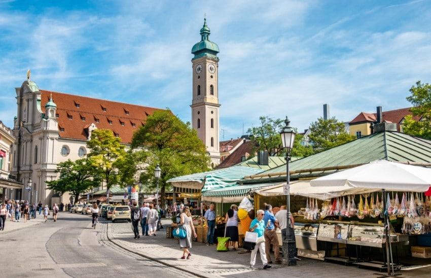 Viktualienmarkt, il mercato del centro